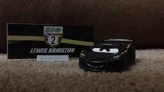 """Disney cars """"3"""" Lewis Hamilton review (with collector card)"""