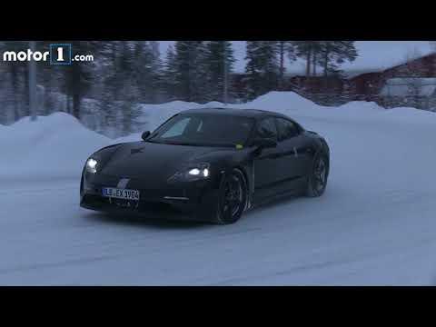 Porsche Mission E Spy Video