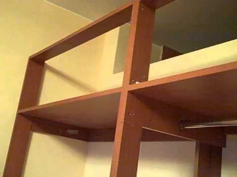 Closet empotrado de melamina youtube for Planos de roperos en melamina gratis