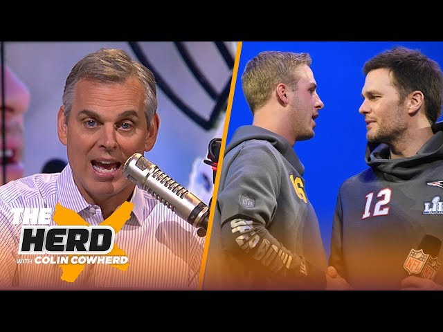 Colin Cowherd reveals his pick for Super Bowl LIII this Sunday | NFL | THE HERD