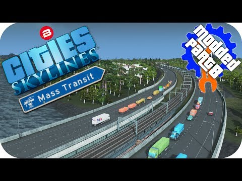Cities Skylines Gameplay: PENINSULA CITY LIFE!! Cities: Skylines Mods MASS TRANSIT DLC Part 8