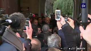 مشادة بين الرئيس الفرنسي وعناصر شرطة الاحتلال في القدس  (22/1/2020)