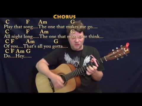 Play That Song (Train) Strum Guitar Cover Lesson with Chords/Lyrics - Capo 3rd