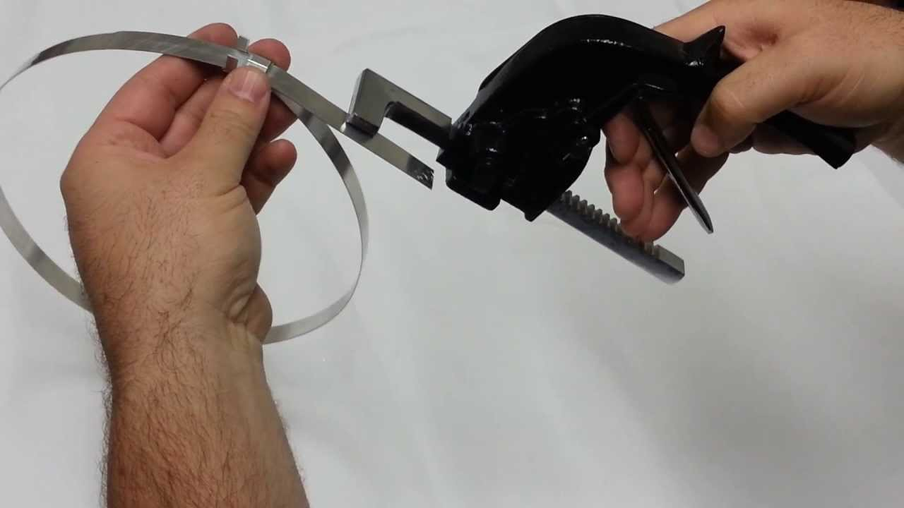How To Use A Pusher Bar Tensioner For Insulation Strapping