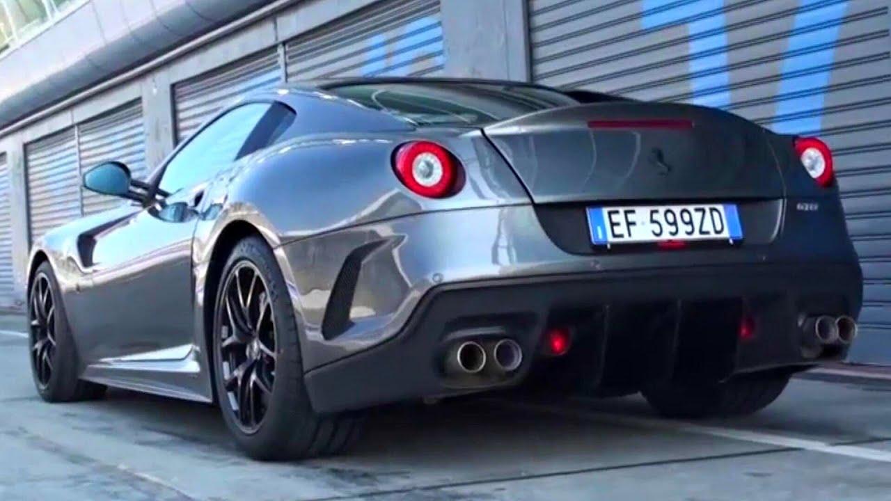 ferrari 599 gto fast fly by and loud revs on track youtube - Matte Black Ferrari 599