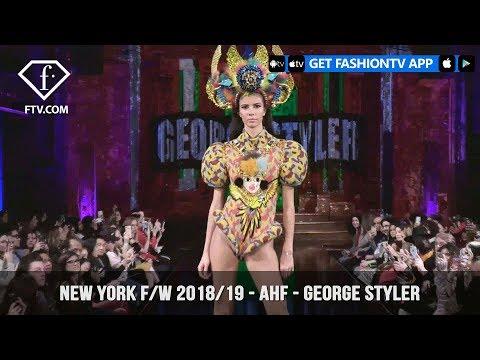 New York Fashion Week Fall/Winter 18 19 - Art Hearts Fashion - George Styler | FashionTV | FTV