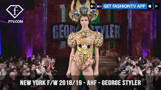New York Fashion Week Fall/Winter 18 19 - Art Hearts Fashion - George Styler | FashionTV | FTV