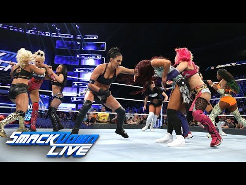 Chaos breaks out among WWE Evolution Battle Royal participants: SmackDown LIVE, Oct. 23, 2018