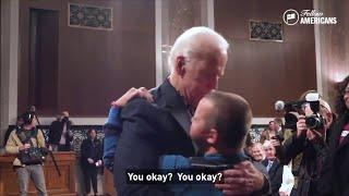 Video of Biden hugging Parkland shooting victim's son goes viral