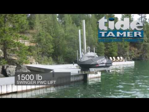 Tide Tamer Swinger Lifts (Dock/Seawall Mount) | Boat Lift ...