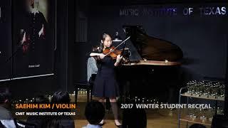 2017 CMIT WINTER STUDENT RECITAL - SAEHIM KIM