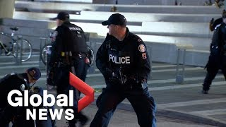 NBA Finals: Scary scene as police respond to shooting during celebration in Toronto