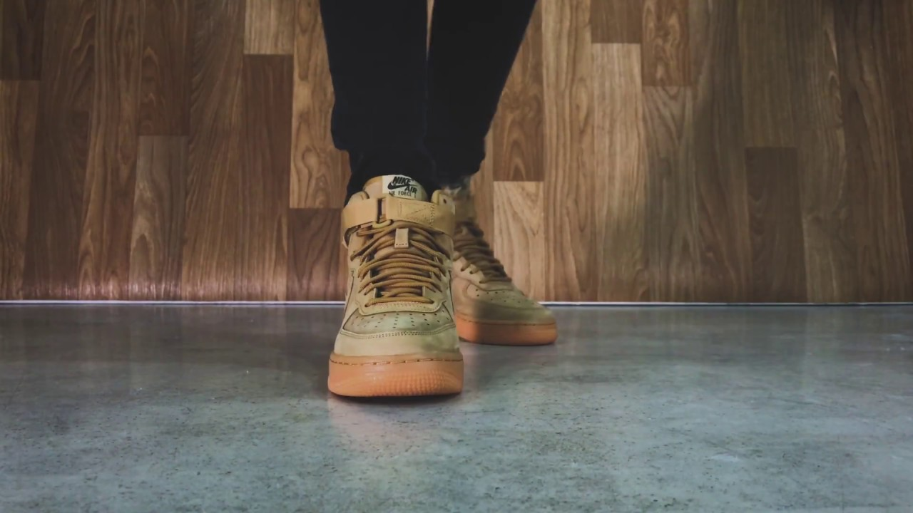 263341bbd3 Nike AirForce 1 High WB - Flax | Sneaker10 - YouTube