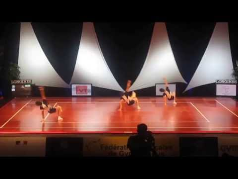 Iran Aerobic Gymnastics Trio national team in world Championships, Rodez - France, 2010
