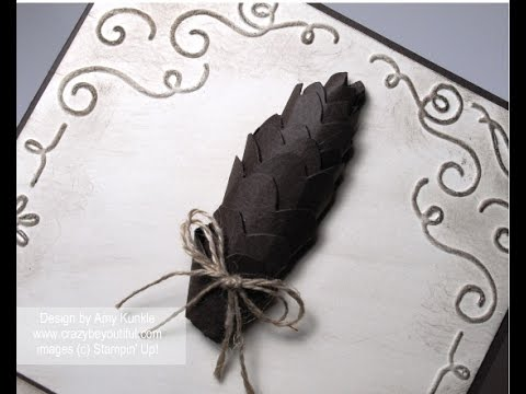 Rolled Paper Pine Cone tutorial
