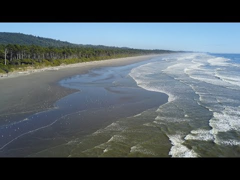 Kalaloch, Washington Coast Aerial Footage at Kalaloch Lodge in the Olympic National Park
