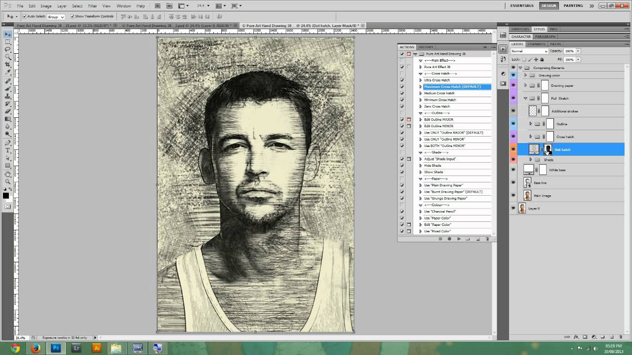 Line Art Software Free Download : Pure art hand drawing 38 indiana charcoal pencil youtube