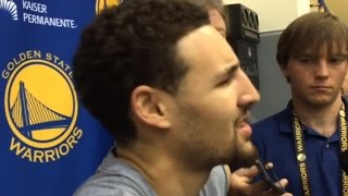 "Klay Thompson Tells Reporter ""GET THE F**K Out Of Here! We"