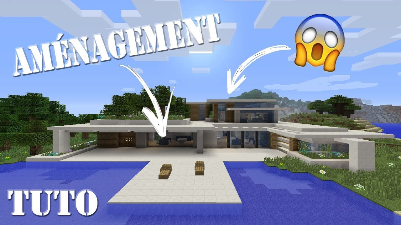 amenagement de ma maison de luxe sur minecraft ps4 youtube. Black Bedroom Furniture Sets. Home Design Ideas