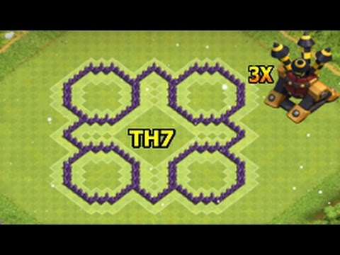 Clash Of Clans Town Hall 7(Level 7) Defence / Th7 Defense Base 2016