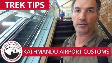 Walk Through Kathmandu Airport Customs & Nepal Visa Process with Dean | Trek Tips
