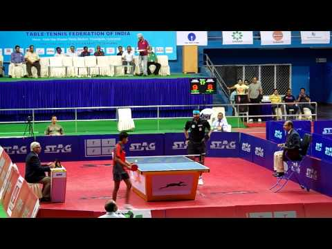 Sathiyan Gnanasekaran vs Achanta Sharath Kamal Semi Final 1, 77th Senior National TT Championship