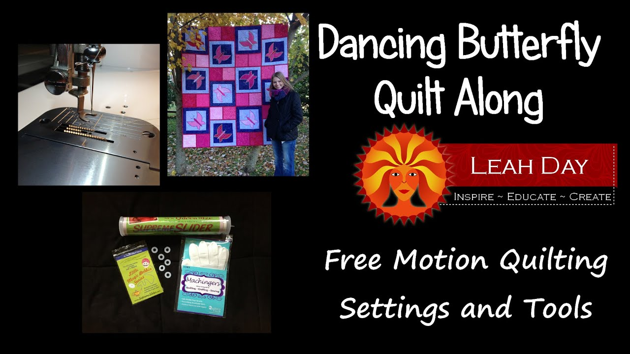 Free Motion Quilting Settings And Tools Youtube