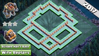 NEW! COC Anti 1 Star Builder Hall 5 Base with Replays 2017 ♦ Anti Battle Machine, Anti Everything
