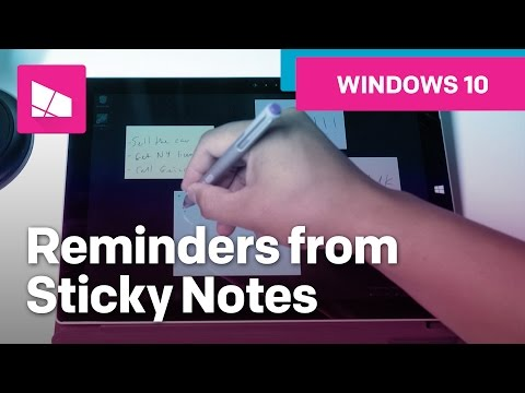 How To Create A Reminder From Sticky Notes On Windows 10