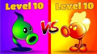 Plants vs Zombies 2 Premium Plants Shadow Peashooter 10 vs Fire Peashooter 10 Levels PVZ 2
