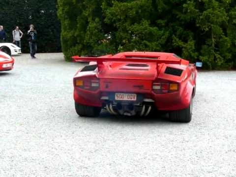 amazing sound lamborghini countach 5000 qv with spaghetti kreissieg exhaust. Black Bedroom Furniture Sets. Home Design Ideas