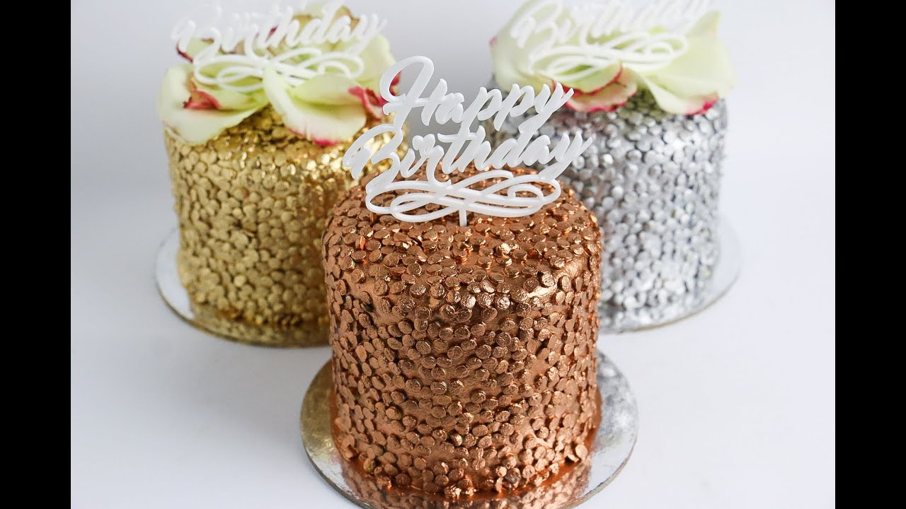 Gold Sparkle Wedding Cake