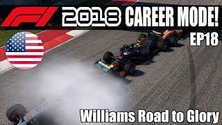 CARNAGE! F1 2018 Williams Road To Glory Season 1 Round 18 USA