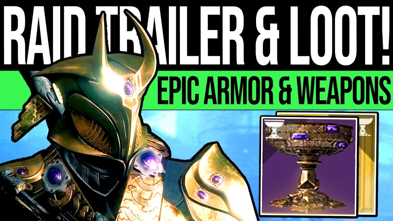 Destiny 2 | NEW TRAILER & EPIC RAID GEAR! DLC Armor, Hive Weapons,  Corrupted Cabal & Crystal Relic