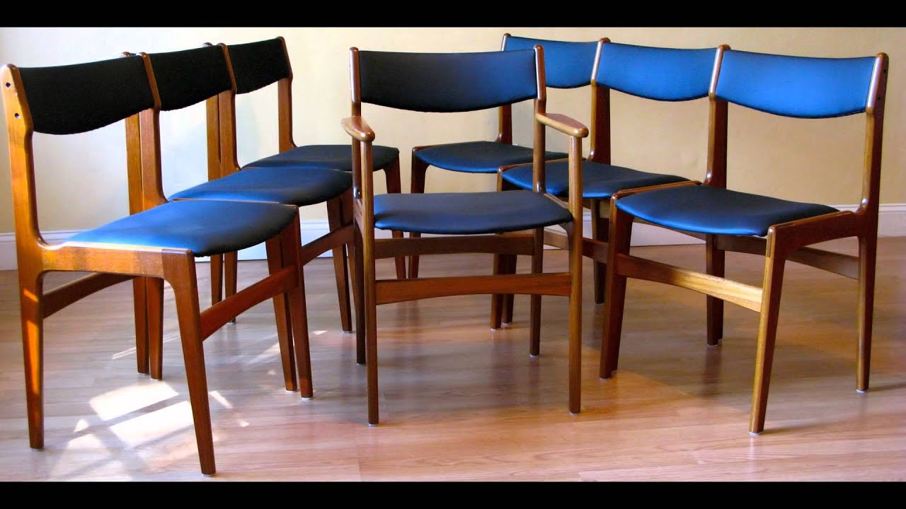 Eight Anderstrup Mobelfabrik Danish Mid-Century Modern Teak Dining Chairs : mid century teak dining chairs - Cheerinfomania.Com