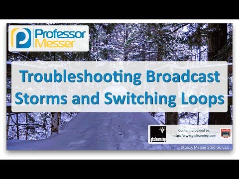 Troubleshooting Broadcast Storms and Switching Loops - CompTIA Network+ N10-006 - 4.6