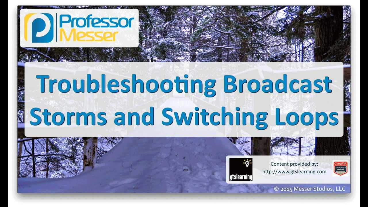 Troubleshooting Broadcast Storms and Switching Loops - CompTIA Network+  N10-006 - 4 6