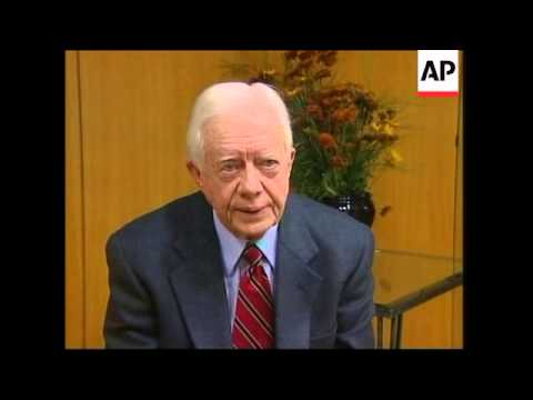 Former president on Hamas election win, with Abbas