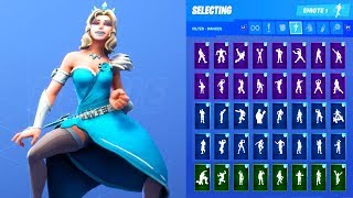 GLIMMER SKIN SHOWCASE WITH ALL FORTNITE DANCES & EMOTES