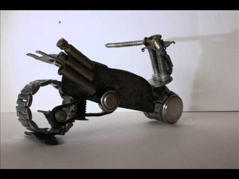 Best from waste hand made robo and bike youtube for Model best out of waste