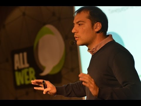 Nikola Spasov (@NikolasTweet) at AllWeb Conference, Skopje Macedonia