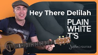 hey there delilah plain white t s beginner acoustic fingerstyle guitar lesson tutorial bs 820