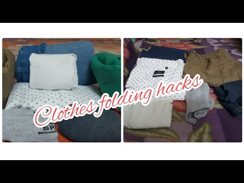 Clothes Folding Hacks To Save Space |clothes Folding For Travel | Clothes Folding Hacks