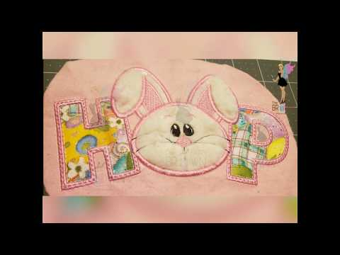 EASTER BUNNY HOP APPLIQUE TUTORIAL USING  BROTHER PE800