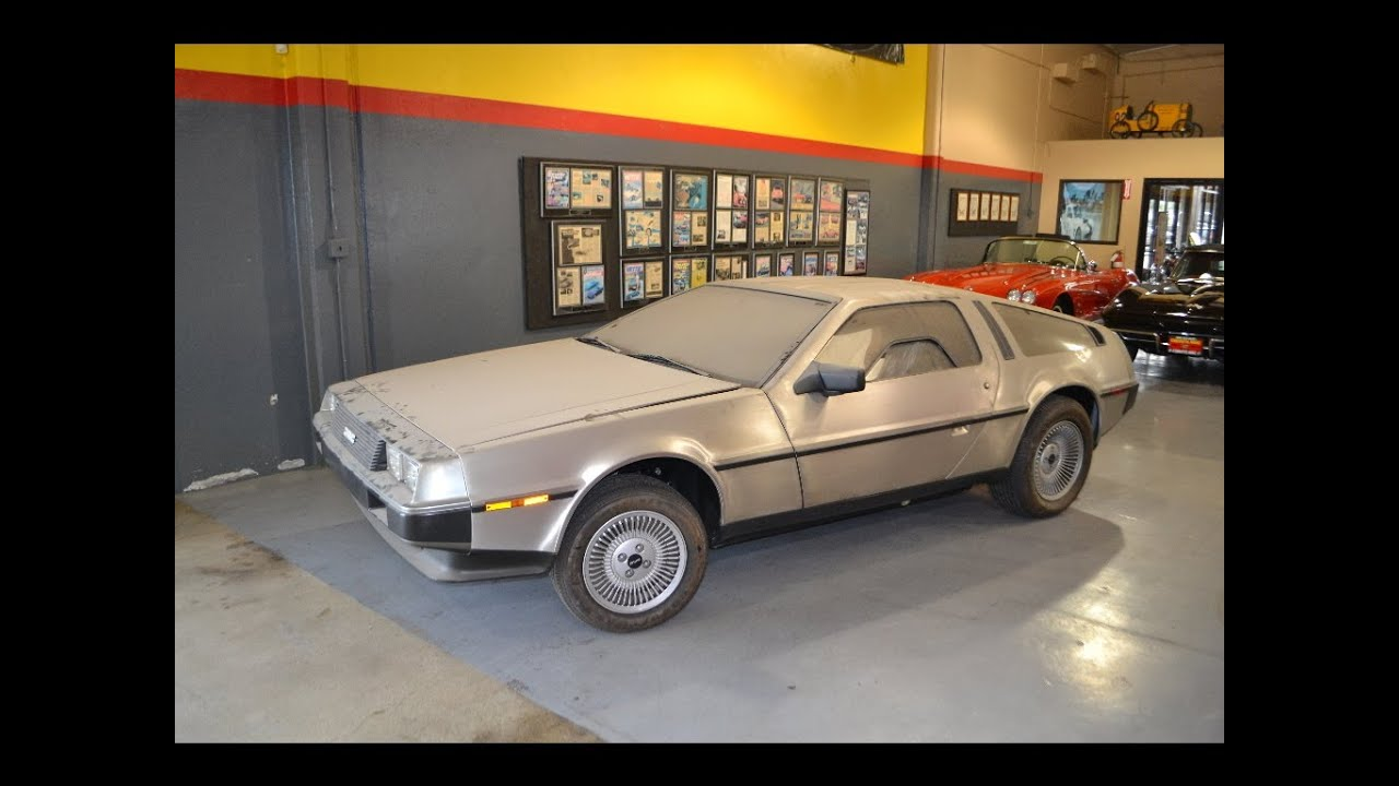 sold barn find 1981 delorean dmc 12 coupe stainless 803 miles for sale by corvette mike youtube. Black Bedroom Furniture Sets. Home Design Ideas