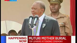 President Uhuru Kenyatta's speech during Speaker Muturi's mother's burial