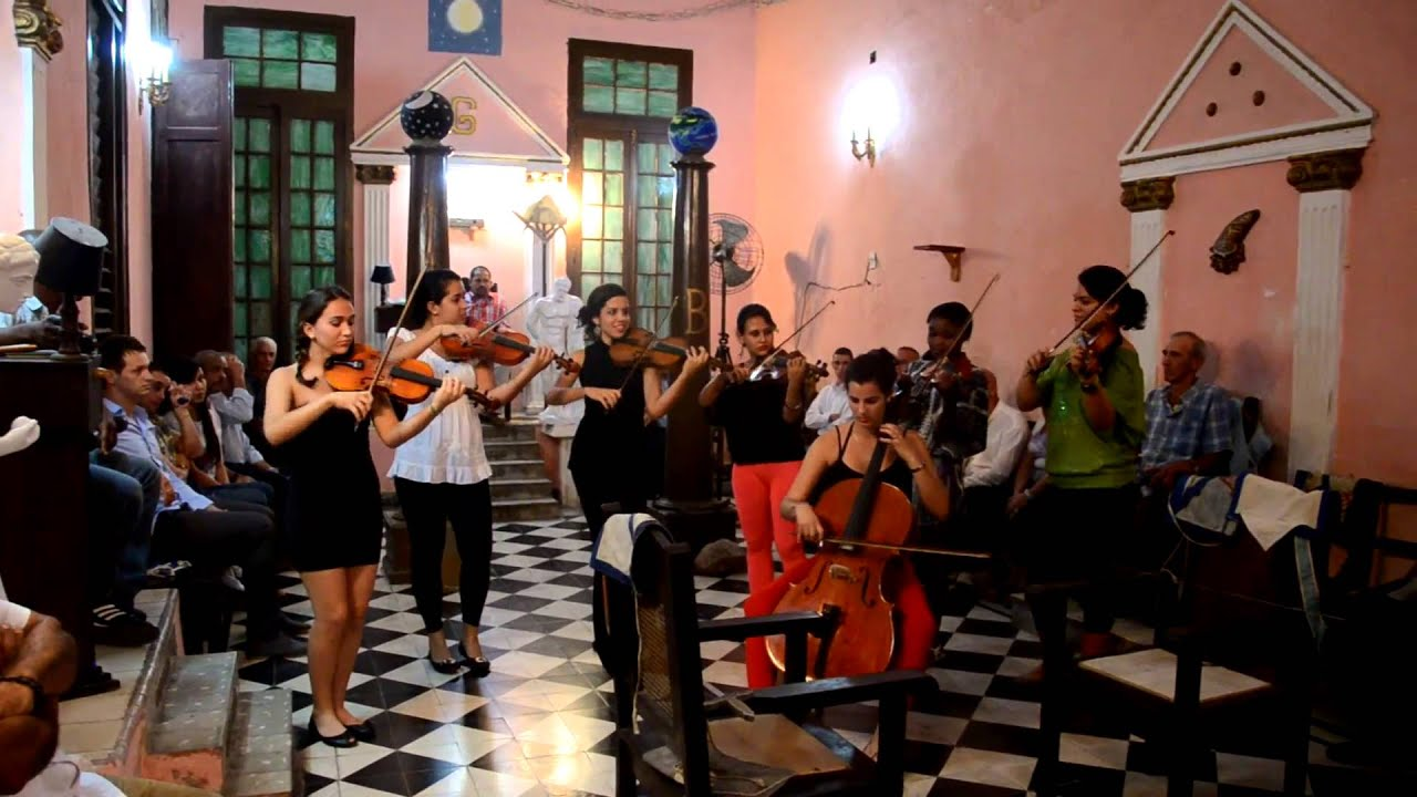Canadian Masonic Visit to Cuba; Violin Students - YouTube