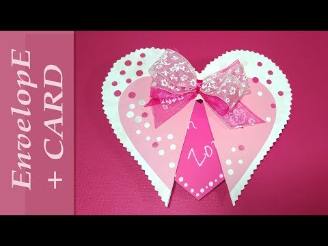 DIY card  with secret and envelope. Heart shaped Easter greeting card. DIY gift for girlfriend.