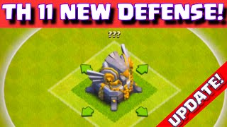 Clash of Clans NEW TOWN HALL 11 DEFENSE UPDATE 2015! WORLD PREMIERE OF COC TOWNHALL 11 DEFENSE