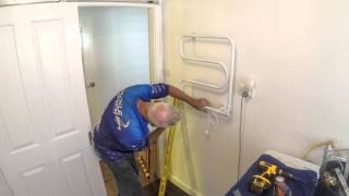 Installing A Heated Towel Rack In The Laundry